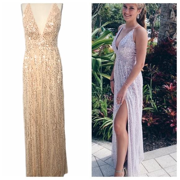 Lulu's Dresses & Skirts - Lulus Jane Ann Blush Pink Sequin Maxi Dress NEW